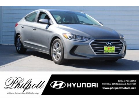 Galactic Gray Hyundai Elantra SEL.  Click to enlarge.