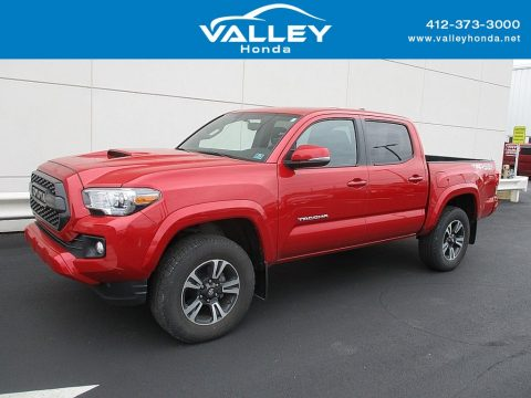 Barcelona Red Metallic Toyota Tacoma TRD Off Road Double Cab 4x4.  Click to enlarge.