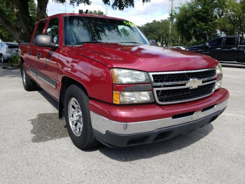 Victory Red Chevrolet Silverado 1500 LS Crew Cab.  Click to enlarge.