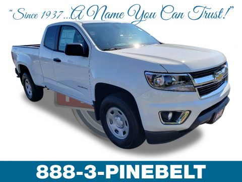 Summit White Chevrolet Colorado WT Extended Cab 4x4.  Click to enlarge.