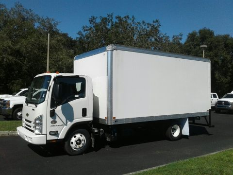 Summit White Chevrolet Low Cab Forward 4500HD Moving Truck.  Click to enlarge.