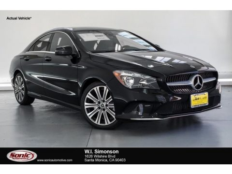 Night Black Mercedes-Benz CLA 250 Coupe.  Click to enlarge.