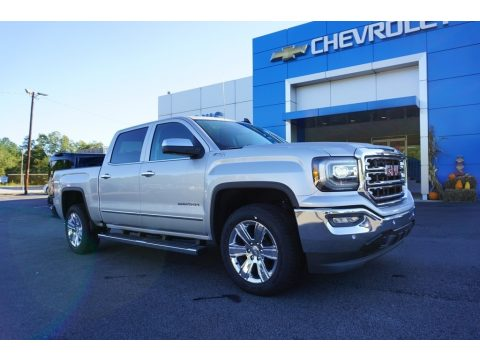 Quicksilver Metallic GMC Sierra 1500 SLT Crew Cab 4WD.  Click to enlarge.