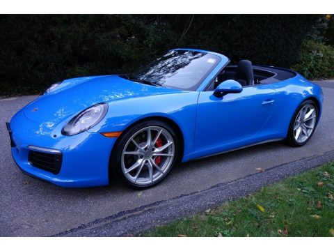 Paint to Sample Voodoo Blue Porsche 911 Carrera 4S Cabriolet.  Click to enlarge.