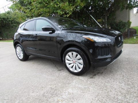 Santorini Black Metallic Jaguar E-PACE SE.  Click to enlarge.