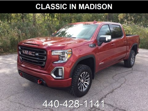 Red Quartz Tintcoat GMC Sierra 1500 AT4 Crew Cab 4WD.  Click to enlarge.