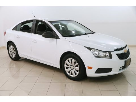 Summit White Chevrolet Cruze LS.  Click to enlarge.