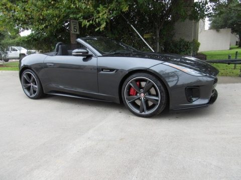 Carpathian Grey Metallic Jaguar F-Type R-Dynamic Convertible.  Click to enlarge.