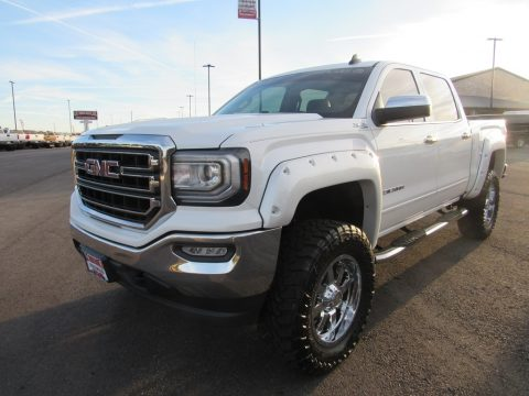 Summit White GMC Sierra 1500 SLE Crew Cab 4WD.  Click to enlarge.