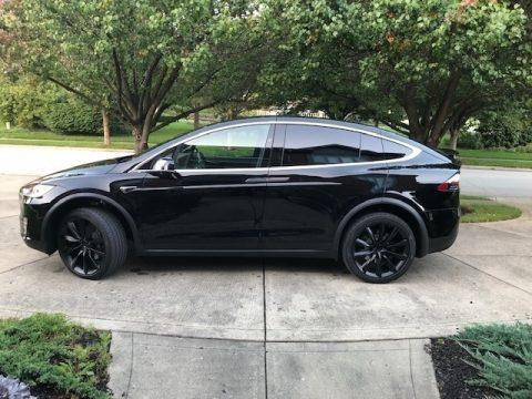 Solid Black Tesla Model X 100D.  Click to enlarge.