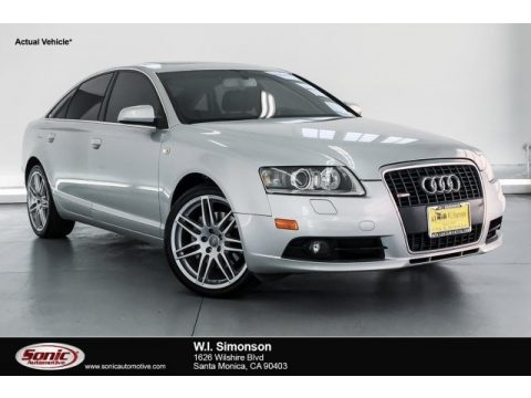 Light Silver Metallic Audi A6 3.2 quattro Sedan.  Click to enlarge.
