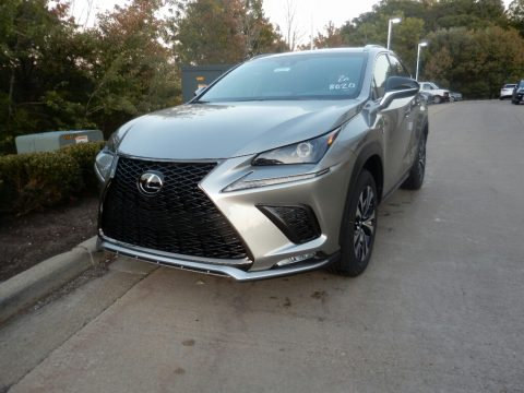 Atomic Silver Lexus NX 300 F Sport AWD.  Click to enlarge.