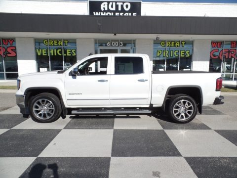 White Frost Tricoat GMC Sierra 1500 SLT Crew Cab.  Click to enlarge.