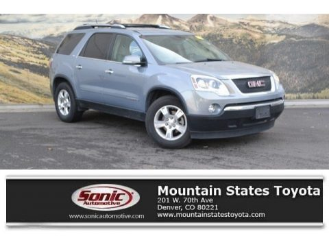 Blue-Gold Crystal Metallic GMC Acadia SLT AWD.  Click to enlarge.