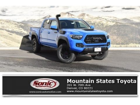 Voodoo Blue Toyota Tacoma TRD Pro Double Cab 4x4.  Click to enlarge.