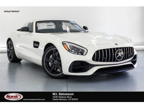 designo Diamond White Metallic Mercedes-Benz AMG GT Roadster.  Click to enlarge.