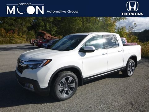 White Diamond Pearl Honda Ridgeline RTL-E AWD.  Click to enlarge.