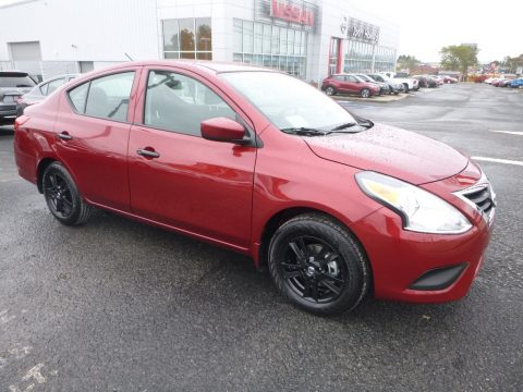 Cayenne Red Metallic Nissan Versa S Plus.  Click to enlarge.