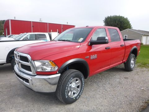 Flame Red Ram 2500 Tradesman Crew Cab 4x4.  Click to enlarge.
