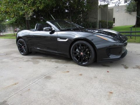 Santorini Black Metallic Jaguar F-Type P300 Convertible.  Click to enlarge.