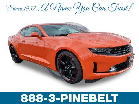 Crush (Orange) Chevrolet Camaro LT Coupe.  Click to enlarge.