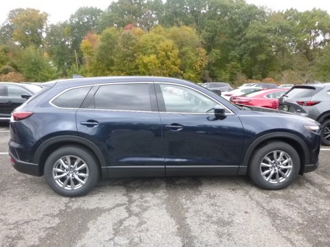 Deep Crystal Blue Mica Mazda CX-9 Touring AWD.  Click to enlarge.