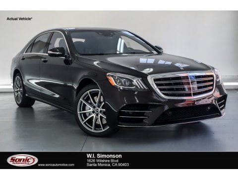 Ruby Black Metallic Mercedes-Benz S 560 Sedan.  Click to enlarge.