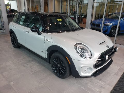 White Silver Mini Clubman Cooper S All4.  Click to enlarge.