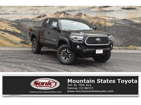 Midnight Black Metallic Toyota Tacoma TRD Off-Road Double Cab 4x4.  Click to enlarge.