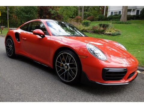 Lava Orange Porsche 911 Turbo S Coupe.  Click to enlarge.