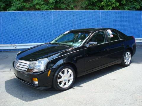 Black Raven 2005 Cadillac CTS Sedan with Ebony interior Black Raven Cadillac