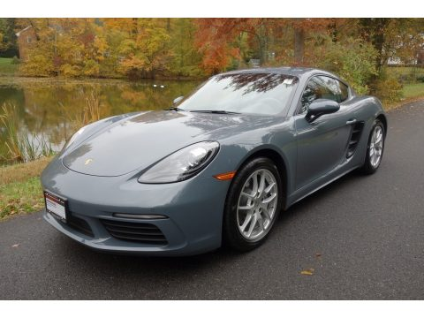 Graphite Blue Metallic Porsche 718 Cayman .  Click to enlarge.