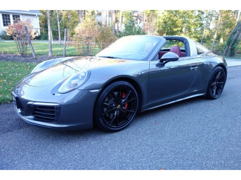 Agate Grey Metallic Porsche 911 Targa 4S.  Click to enlarge.