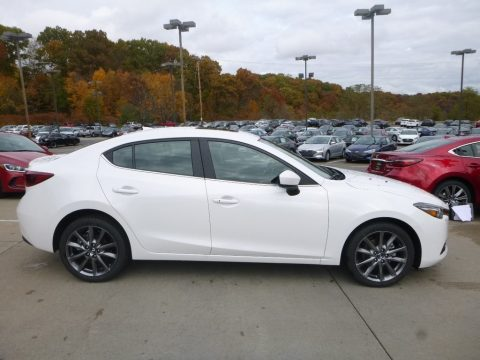 Snowflake White Pearl Mica Mazda MAZDA3 Grand Touring 4 Door.  Click to enlarge.