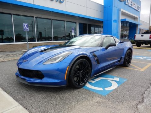 Elkhart Lake Blue Metallic Chevrolet Corvette Grand Sport Coupe.  Click to enlarge.