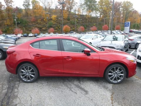 Soul Red Metallic Mazda MAZDA3 Touring 4 Door.  Click to enlarge.