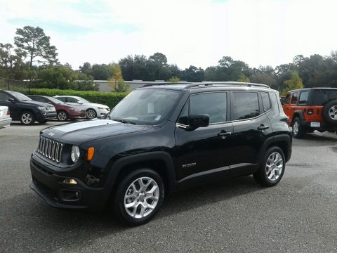 Black Jeep Renegade Latitude.  Click to enlarge.