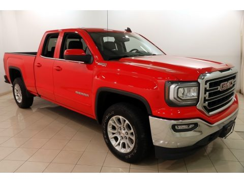 Cardinal Red GMC Sierra 1500 SLE Double Cab 4WD.  Click to enlarge.