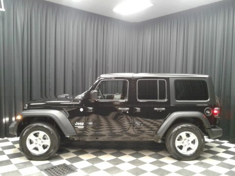 Black Jeep Wrangler Unlimited Sport 4x4.  Click to enlarge.