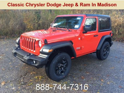 Firecracker Red Jeep Wrangler Sport 4x4.  Click to enlarge.