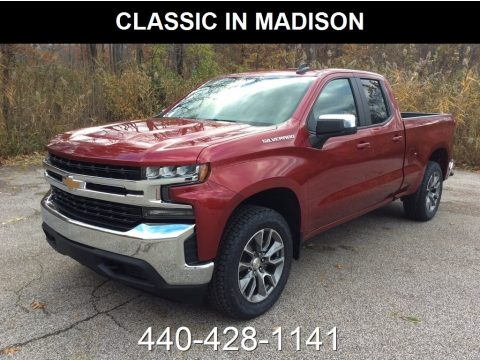 Cajun Red Tintcoat Chevrolet Silverado 1500 LT Double Cab 4WD.  Click to enlarge.