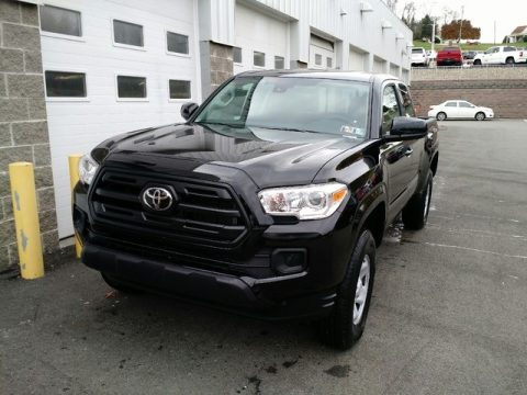 Midnight Black Metallic Toyota Tacoma SR Access Cab 4x4.  Click to enlarge.