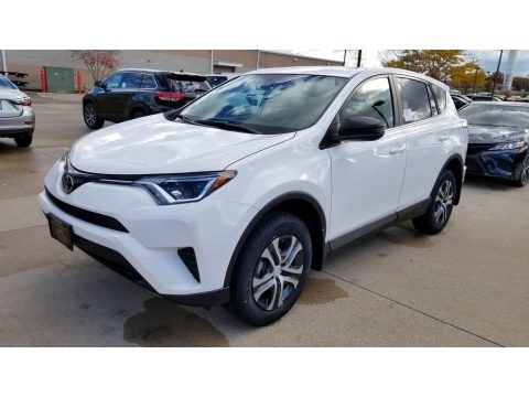 Super White Toyota RAV4 LE.  Click to enlarge.