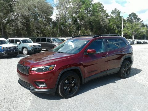 Velvet Red Pearl Jeep Cherokee Latitude Plus.  Click to enlarge.