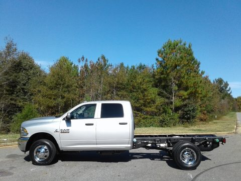 Bright Silver Metallic Ram 3500 Tradesman Crew Cab 4x4 Chassis.  Click to enlarge.