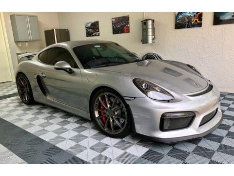GT Silver Metallic Porsche Cayman GT4.  Click to enlarge.