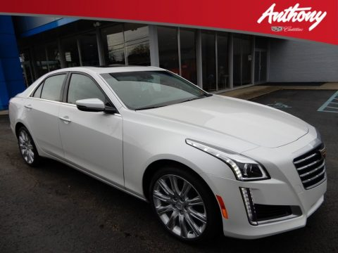 Crystal White Tricoat Cadillac CTS Luxury AWD.  Click to enlarge.