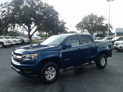 Pacific Blue Metallic Chevrolet Colorado WT Crew Cab 4x4.  Click to enlarge.
