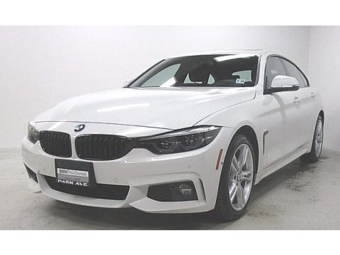 Alpine White BMW 4 Series 440i xDrive Gran Coupe.  Click to enlarge.