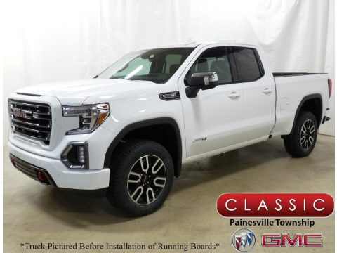 Summit White GMC Sierra 1500 AT4 Double Cab 4WD.  Click to enlarge.